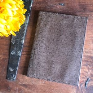 Journal: New Leather Covered Lined Journal